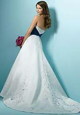 Brand New Alfred Angelo Wedding Gown Style 1139- Beaded Satin & Contrasting Trim