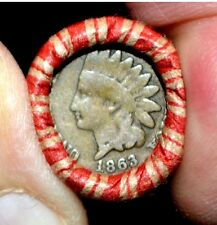 1863 / Indian Head REV ends**BANKERS OLD ESTATE** Lincoln Wheat Penny Roll