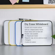 "14X11"" Magnetic Dry Erase Drawing Writing Whiteboard +Pen Holder for Office E4T6"