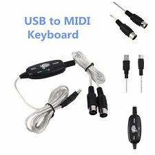 New USB to Midi Interface Piano Music Keyboard Cable Adapter Converter for PC BK