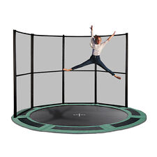 14ft Round Inground Trampoline with Half Net - Made in Europe- Free Delivery