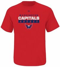 Washington Capitals NHL Majestic Boys Hometown Wordmark Shirt Red Youth Sizes