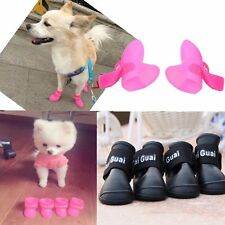 4Pcs Dog Cat Rain Protective Boots Waterproof Anti-Slip Puppy Pet Shoes Boots