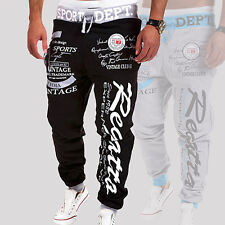 Mens Letter Printed Sport Sweat Pants Jogging Trousers Tracksuit Bottoms Optimal