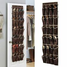 Door Organizer Shoe Storage Rack Over Hanging Hanger 24 Pockets Bag Space Saver
