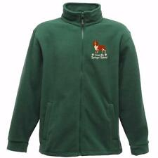 WOMENS FLEECE embroidered with dog design SPRINGER SPANIEL  6 colours 6 sizes