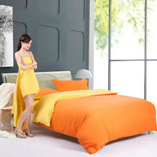 Orange Yellow Singl Double Queen King Size Bed Set Pillowcases Quilt Duvet Cover