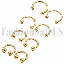 6-12mm Stainless Steel 16G Nose Piercing Septum Lip Nipple Eyebrow Rings Hoop