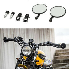 """Black Motorcycle 7/8"""" Bar End Rearview Side Mirrors + Hand Grips For Confederate"""