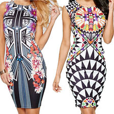 Sexy Mini Vest  New Printing Nightclub Pencil Digital Hip Dress Package  Pen