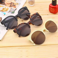 NEW Retro Black Lens Vintage Men Women Round Frame Sunglasses Glasses Eyewear~OP