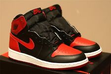 2016 DS NIKE AIR JORDAN 1 OG HIGH RETRO BRED GS 575441 001 ROYAL BLUE BANNED 6Y