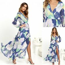 New Womens Maxi Boho Floral Summer Beach Long Dress Evening Cocktail Party Dress
