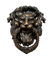 Small Vintage Lion's Head Door Knocker & Pull - 4305