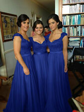 Plus Size 2-26W Chiffon Party Cocktail Evening Prom Dresses Long Bridesmaid Gown