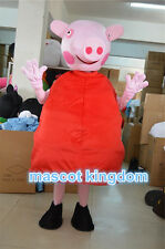 Hot Birthday Party Fancy Dress Adult Outfit Red Season-Peppa Pig Mascot Costume
