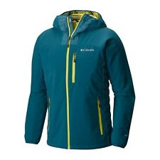 COLUMBIA MENS L DUTCH HOLLOW HYBRID OMNI HEAT DOWN INSULATED SOFTSHELL JACKET