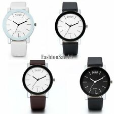 Fashion Casual Analog Quartz Movement Simple Men's Wrist Watch Leather Band New