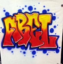 Custom Airbrushed Graffiti Shirt with Name (Sizes 6 months - Adult 5XL)