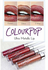 COLOURPOP MATTE METALLIC - LIQUID LIPSTICK LIP CREAM - NUDE, BROWN, PINK