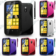 Cover case wallet TPU silicone gel S-line Nokia Lumia 620 + screen protector
