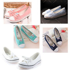 Candy Colors Women Girls Low Top Loafer Canvas Shoes Sneaker Soft Flat Shoe U5L2