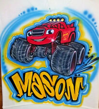 Airbrushed Blaze and the Monster Machines Shirt (Sizes 6 months - Adult 5XL)