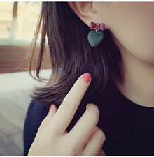 Earrings 1Pair Color Love Heart Bow tie Candy Pur Ball Stud Earrings Earring`