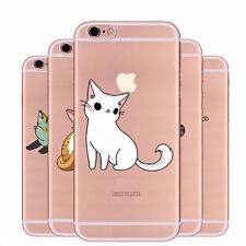 Clear Painting Cats Bride Swan Dream Catcher Pattern Case For iPhone 6 6s 7 Plus
