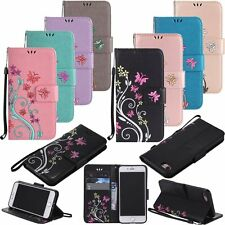 Flip Leather Wallet Card Colour Stand Case Cover For Apple iPhone 5S 6S 7 Plus
