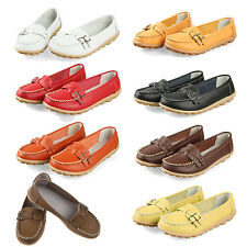 New women flats genuine leather shoes women slip on C2G2