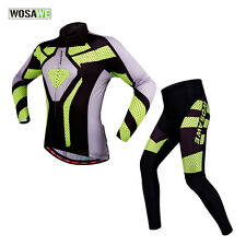 Breathable Mens Cycling Jersey+Long Pants Sets Bicycle Bike Long Sleeve Clothing