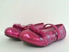 New Stride Rite Baby Toddler Girl Quinn Pink/Multi Ballerina Flats Sz US 7M 7.5M