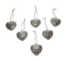 Gisela Graham Silver Metal Filigree Heart Home Decoration Wedding Hanging Tree
