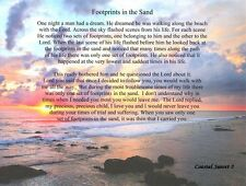 Footprints in the Sand Inspirational Frameable Poem Print