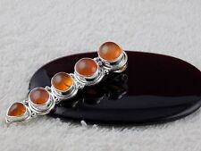 Natural Carnelian Cabochon Gemstone 925 Sterling Silver Pendant Women Pendant
