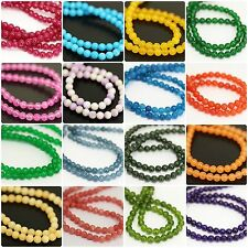 "Gemstone Smooth Round Ball Loose Spacer Jade Beads Strand Wholesale 8mm 30"" 90pc"