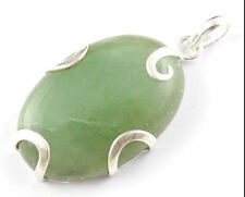 Natural Milky Aqua Cabochon Gemstone 925 Sterling Silver Handmade Women Pendant