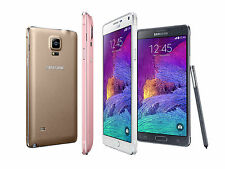 "5.7"" Unlocked Android Quad Core Smartphone Samsung Galaxy Note 4 4G LTE Phone CL"