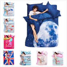 FitUS Lovely Forest Cartoon Girl Bicycle Bed Set Cotton Queen Duvet Cover