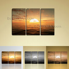 Large Sunset Over Ocean Seascape Contemporary On Canvas Wall Art Print BedRoom