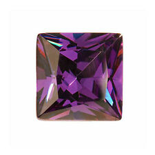 Amethyst Color Cubic Zirconia AAA Quality Calibrated Size Square Shape gemstones