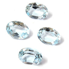 Natural Brazilian Sky Blue Topaz AA Quality 10x8 mm Faceted Oval Loose gemstone
