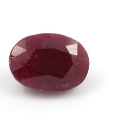 Be You 6.1cts Red Color Faceted Oval Shape Natural African Ruby