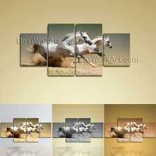 Large Animal Canvas Art Horse Painting On Dining Room Four Pieces Giclee print