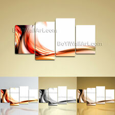 Large Abstract Canvas Art Print Modern Home Decor Bedroom 4 Pieces Ready To Hang