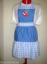 GIRLS CUSTOMISED WIZARD OF OZ COSTUME CHARACTER APRON MADE 2 ORDER