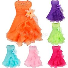 Baby Flower Girl Christening Baptism Wedding Princess Ruffle Tutu Party Dress