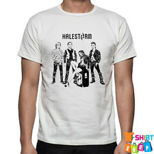 New Halestorm Personels Hard Rock Band Men's White T-Shirt Size S to 3XL