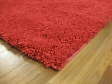 Soho Red SEVEN SIZES New Modern Thick Heavy Shaggy Floor Rug FREE DELIVERY